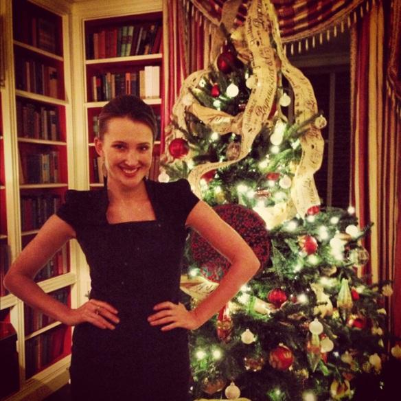 Мария Байбакова в Белом доме, Вашингтон, декабрь 2012