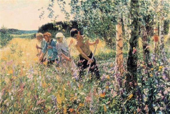 """Аркадий Пластов """"Жатва"""", 1945"""