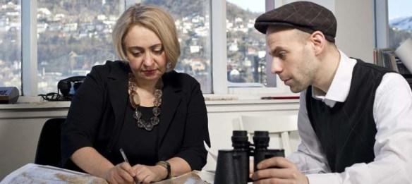 Екатерина Деготь и Давид Рифф на Ассамблее в Бергене, фото Thor Brødreskift, Klassekampen
