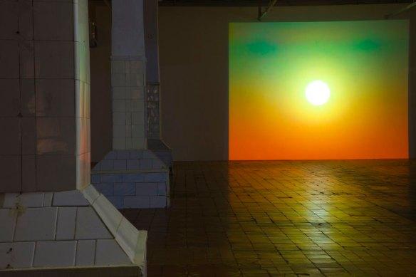 """Вид инсталляции Пола Пфайффера """"Утро после Всемирного потопа"""", 2003, Baibakov Art Projects, Москва, 2009"""