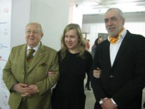 Зураб Церетели, директор Artplay Алина Сапрыкина, и директор ГЦСИ Михаил Миндлин